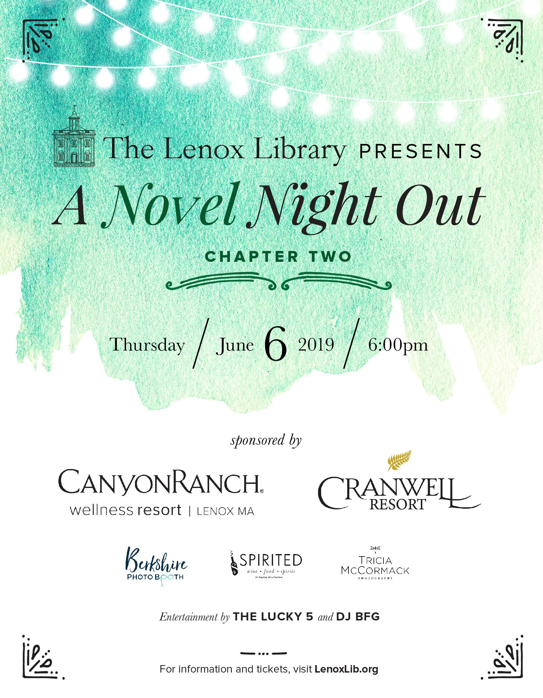 A Novel Night Out at the Lenox Library